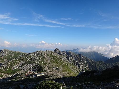 木曽駒ヶ岳・宝剣岳(中央アルプス、テント泊登山) 1日目・木曽駒ヶ岳