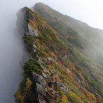八峰キレットの岩場