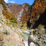 紅葉の黒部峡谷