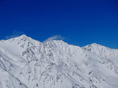 冬の白馬八方尾根スノーシューハイク 雪の白馬岳の大展望
