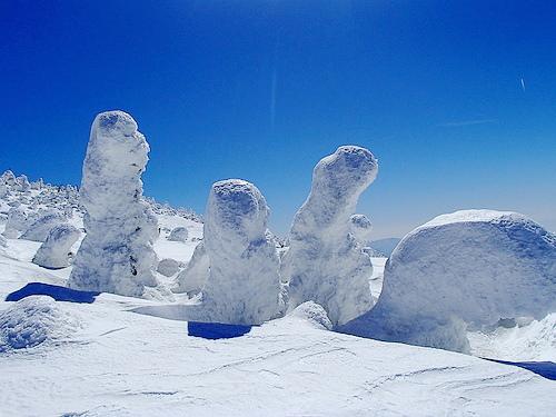 【東北】西吾妻山 夜行スキーバス利用の雪山登山(樹氷・スノーモンスターの世界)