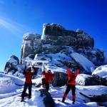 冬の金峰山山頂にて
