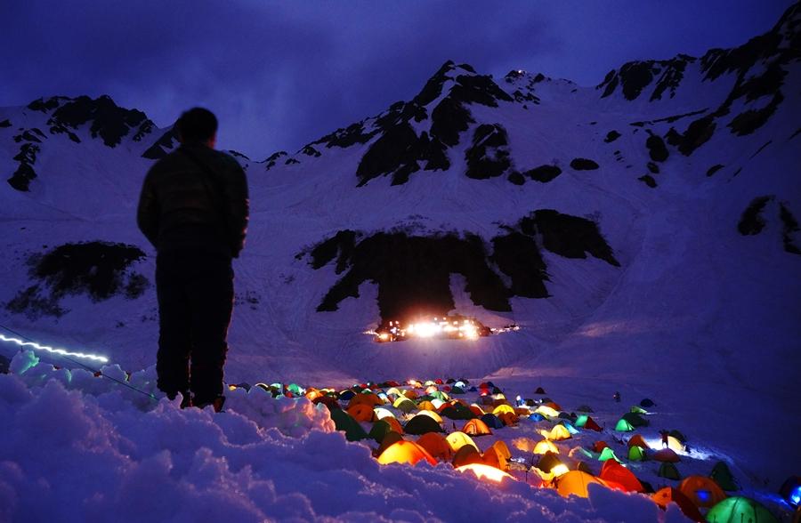 北穂高岳(北アルプス) GW残雪登山 涸沢テント泊