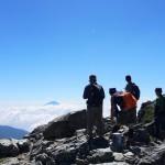 塩見岳から望む富士山
