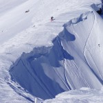 谷川岳オキノ耳への雪庇