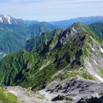 針ノ木岳の稜線