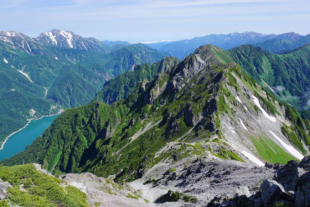 【北アルプス】針ノ木岳~蓮華岳 日帰り登山 大雪渓とコマクサの群生