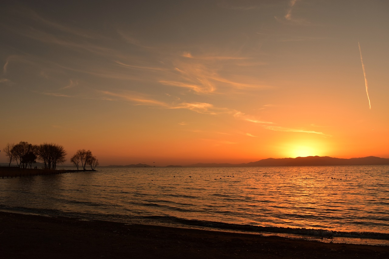 【日本の夕陽百選】長浜の夕陽・琵琶湖の絶景