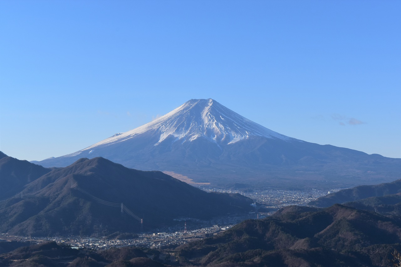 【秀麗富嶽十二景】高川山(初狩駅から大月駅)電車で行く富士山眺望登山