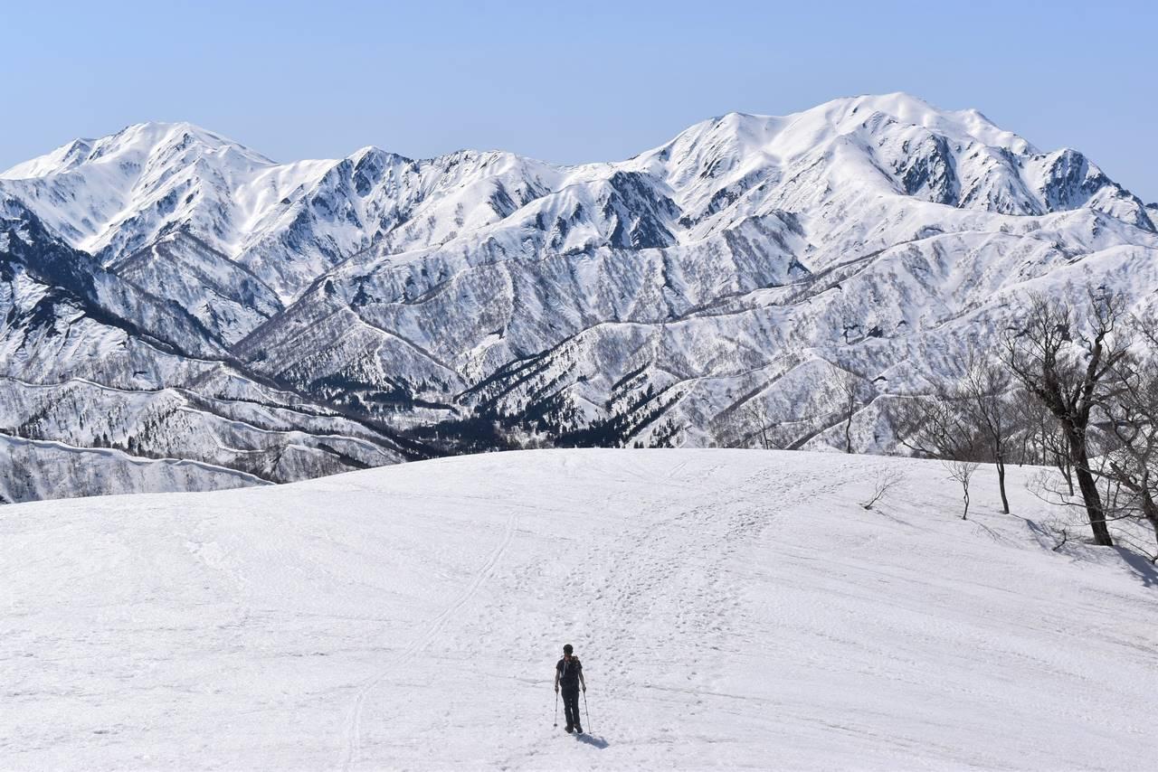 【新潟】日向倉山 残雪期限定の雪山登山 雄大な稜線と越後三山の大展望!