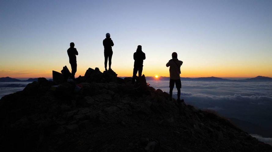 【北アルプス】爺ヶ岳~鹿島槍ヶ岳 ご来光と雲海の絶景登山