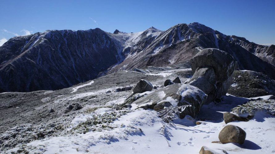 【中央アルプス】将棊頭山 霧氷と雲海の絶景!雪山登山